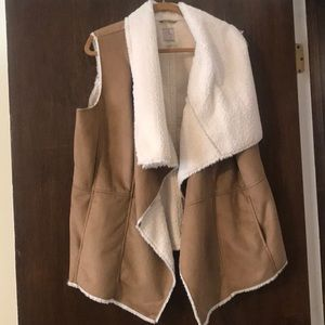 Soft faux fur lined vest